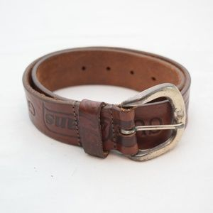 Vintage Guess Jeans Leather Belt, Small Brown